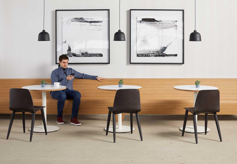 Three sets of lounge area furniture