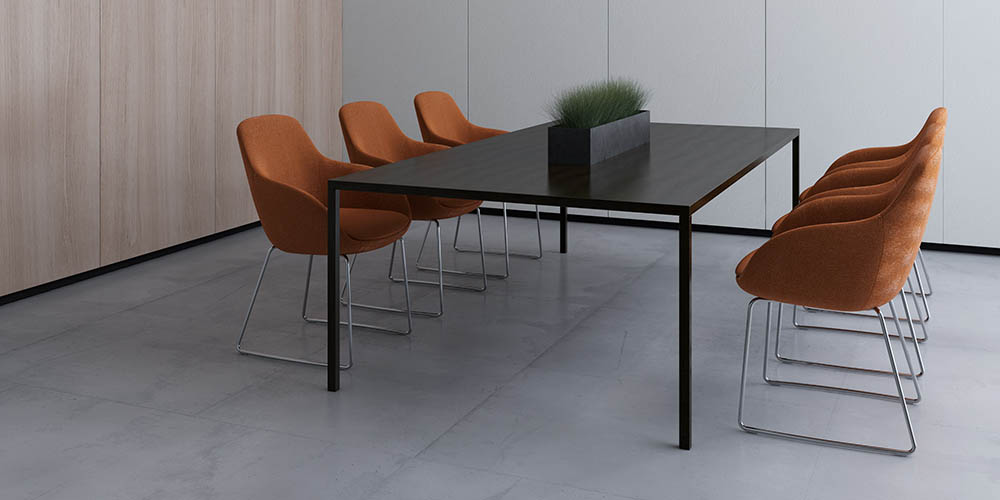 Meeting Room Stools and Table